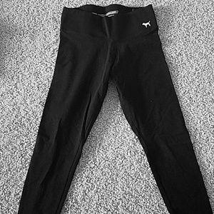 PINK full length black leggings